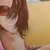 "Self Portrait, pastel 40"" x 28"""
