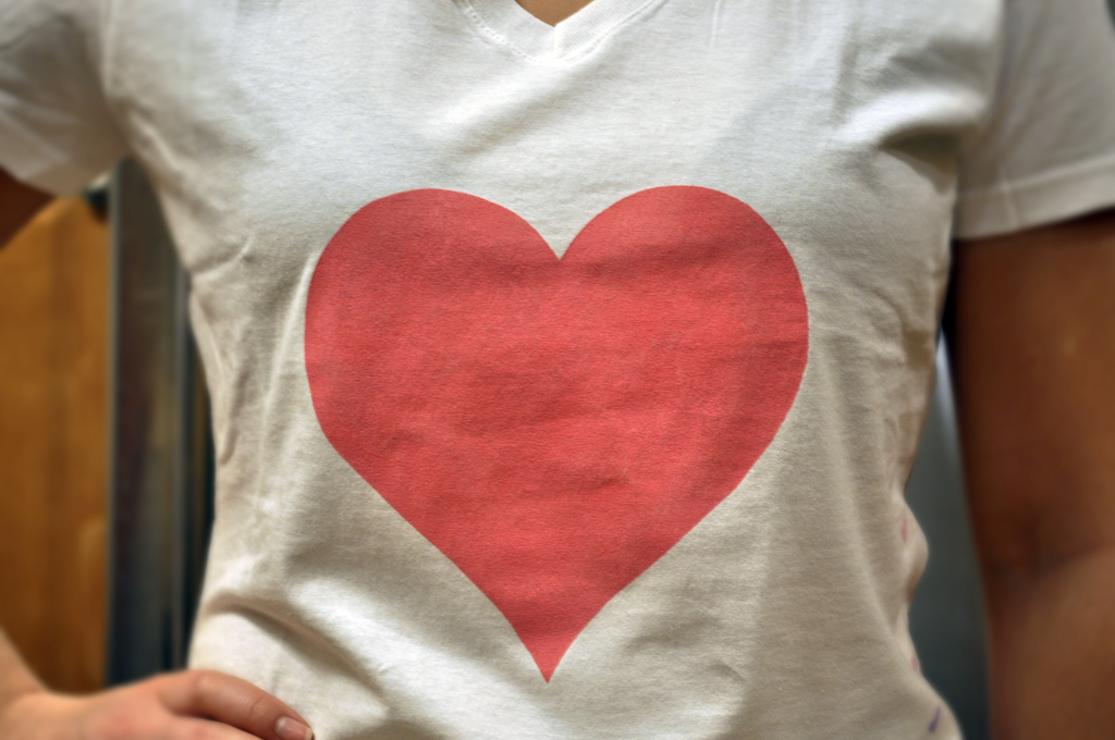 DIY Heart T-Shirt